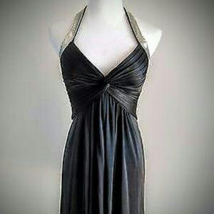 BCBG MaxAzria BLACK HALTER DRESS